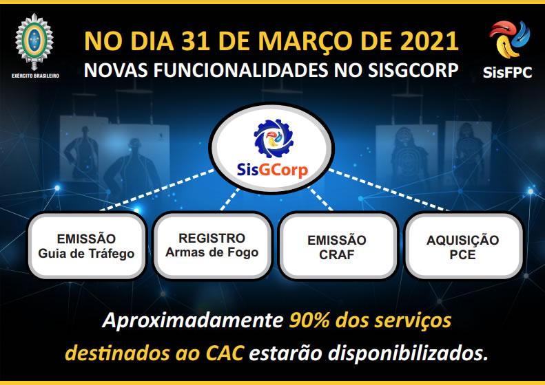 DFPC anuncia entrega de novas etapas funcionais do SisGCorp